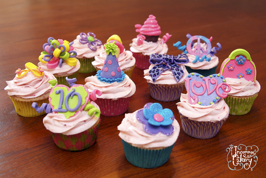 10th Birthday Girlie Cupcakes Strawberry Cupcakes With