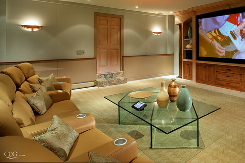 media room design home theater interior design concept by