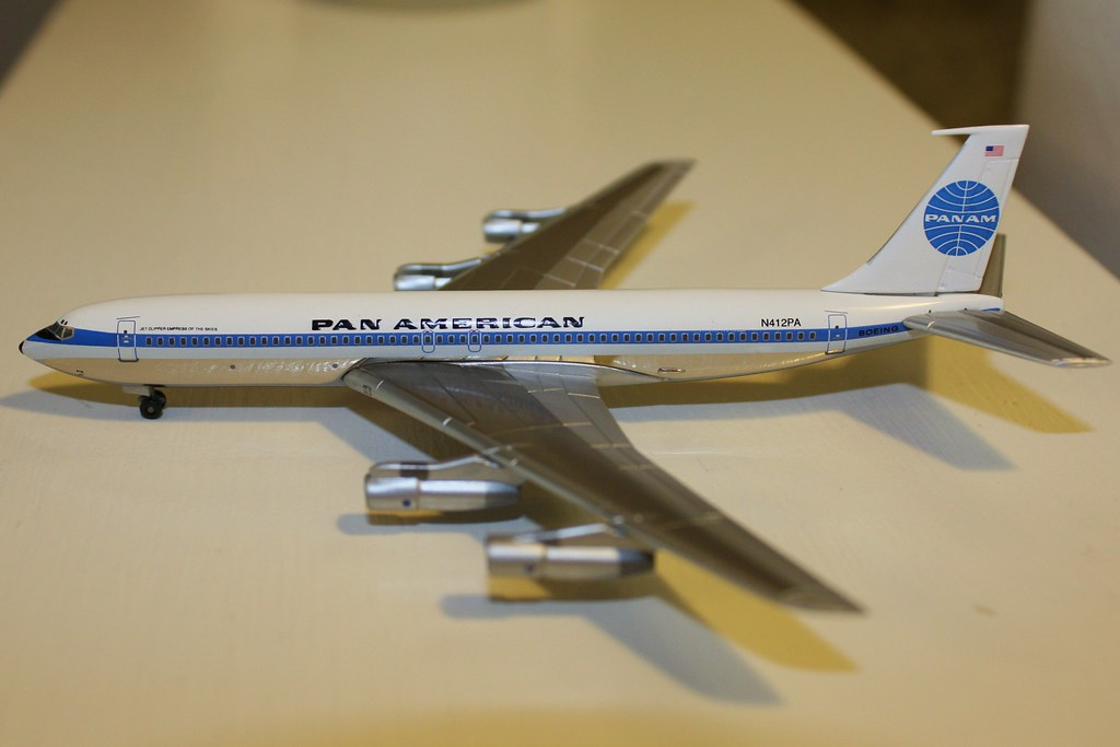 Boeing 707 320 Model Diecast 1 400 Scale Model Of Pan