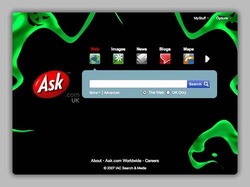 Ask.com Halloween 2007 UK | by rustybrick