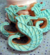 Decorated Seahorse Cookies Handmade And Decorated Flickr