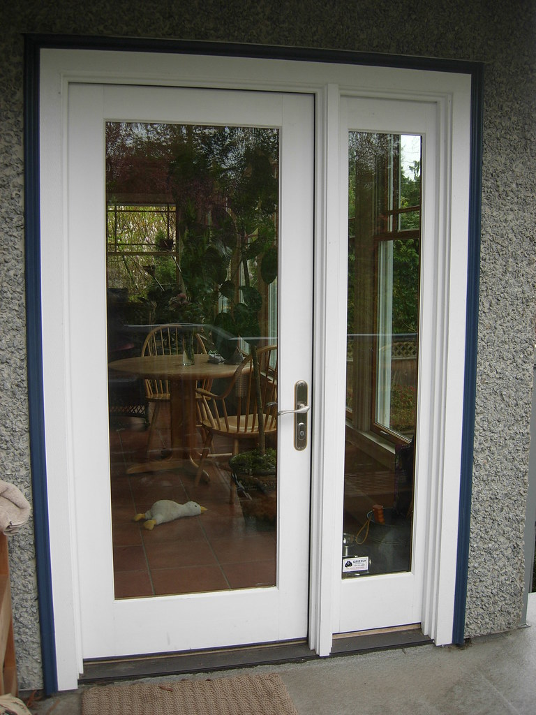 Architect series single french door with sidelight flickr for Single entry door with glass