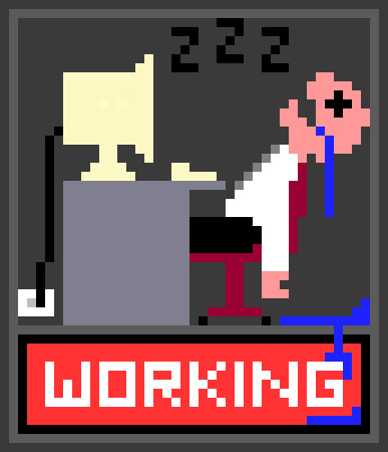working | by matt ditton (AKA polymonkey)