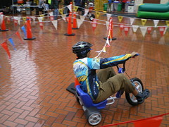Big wheel course at Pioneer Square