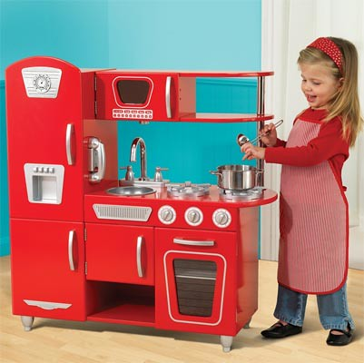 ... Red Vintage Wooden Play Kitchen | By Lisa Arneill