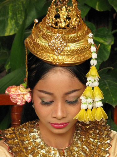 Traditional Khmer Cambodian Costume A Woman In