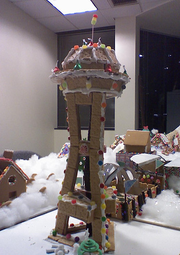 Gingerbread Houses Space Needle At Work They Gathered