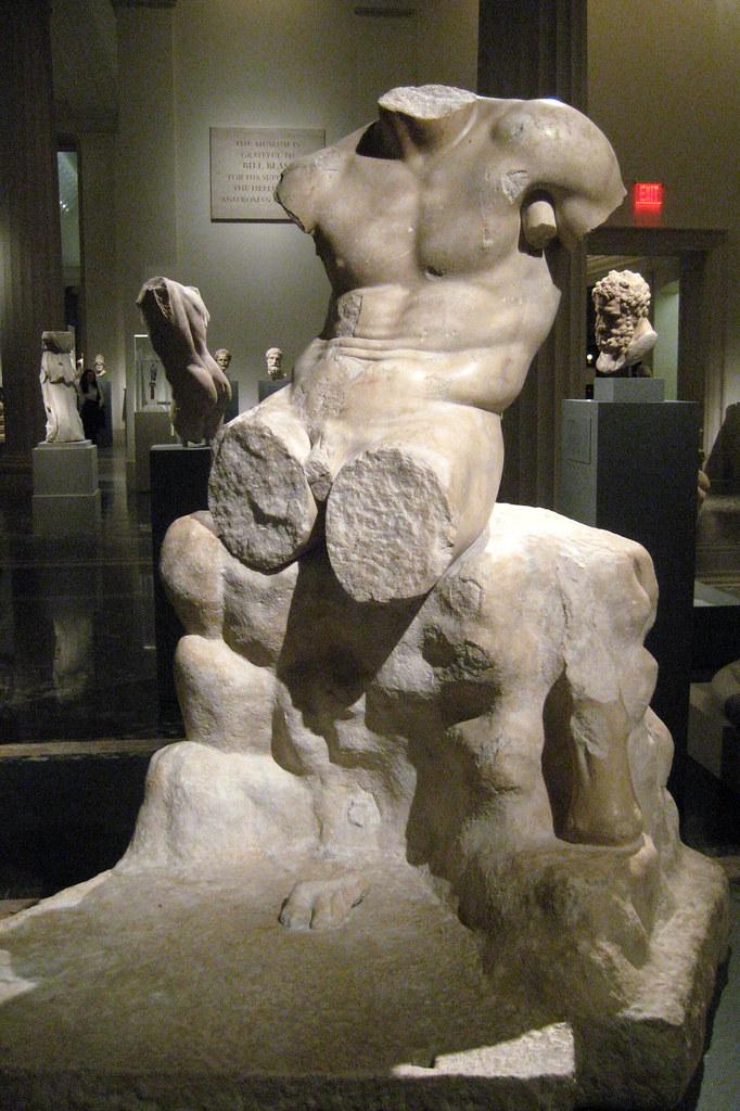 NYC - Metropolitan Museum of Art - Marble statue of Herakl ...