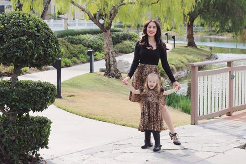 Trashy Diva Classic Knee Length Skirt in Leopard Rockabilly Baby Polly dress in Leopard Vixen by Micheline Pitt Troublemaker Top in Black Restricted Cool Key Heels