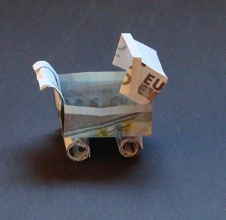 geld origami anleitung
