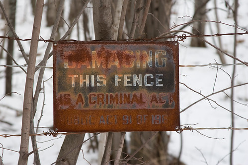 Damaging this Fence is a Criminal Act | by bgreenlee