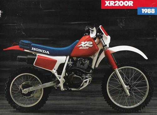 1988 XR200 | Sales brochure for a 1988 Honda XR200R dirt bik… | Flickr