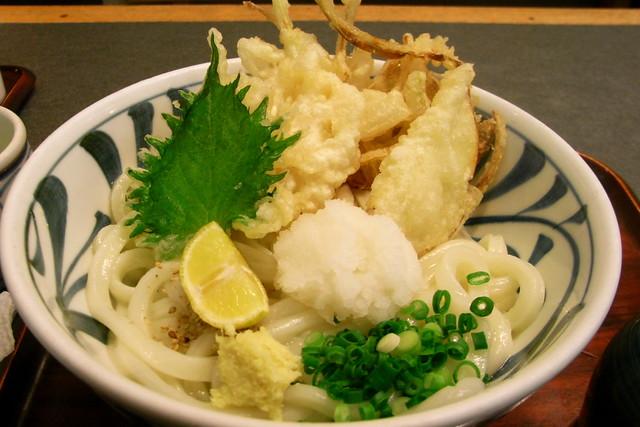 讃岐うどん(野菜天)