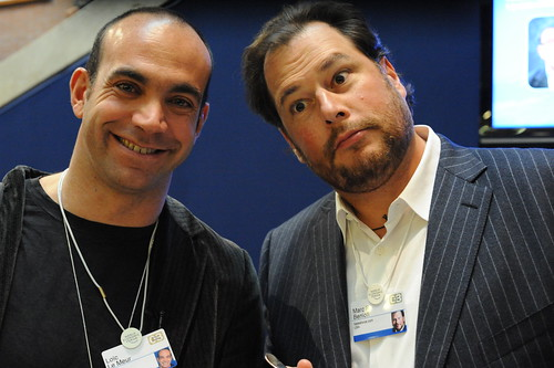 Loic Le Meur and Marc Benioff, CEO of Salesforce.com | by Robert Scoble