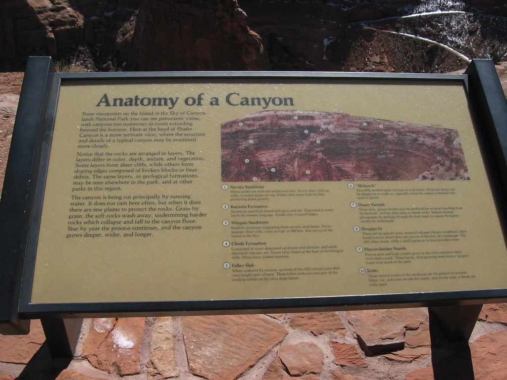 Anatomy Of A Canyon Shafer Canyon Overlook Island In The Flickr