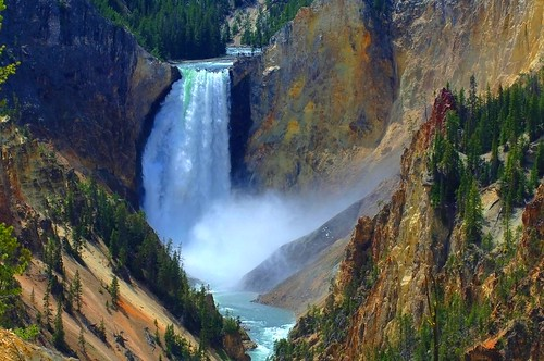 Waterfall at Yellowstone | by a walk on the wild side nature photography
