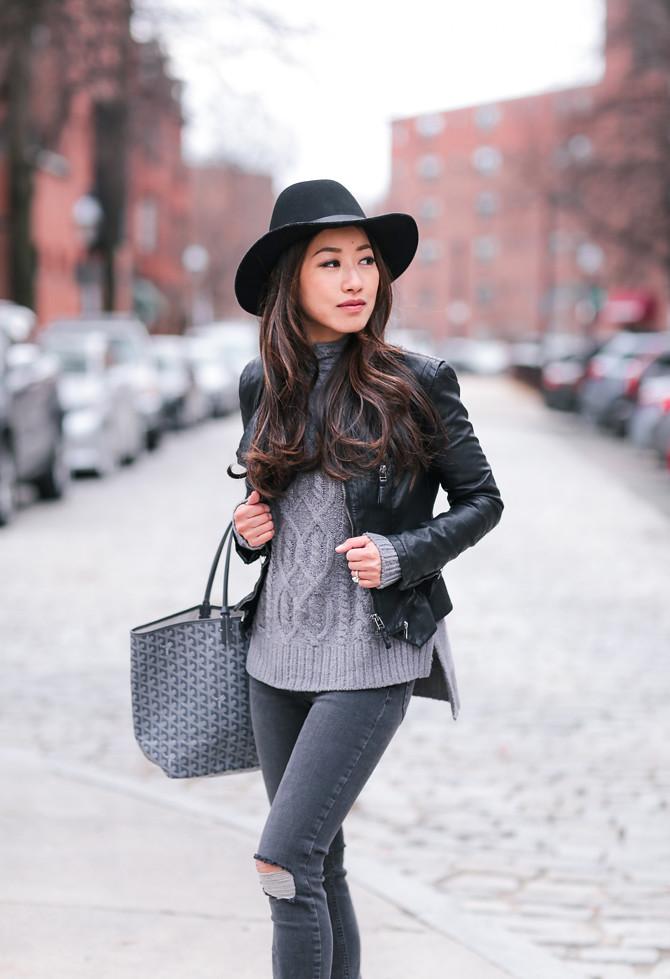 goyard st louis gray tote petite fashion blog
