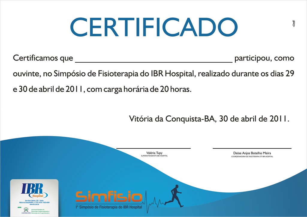 Fabuloso Modelo de Certificado | Modelo de Certificado do Simpósio de… | Flickr ZH29