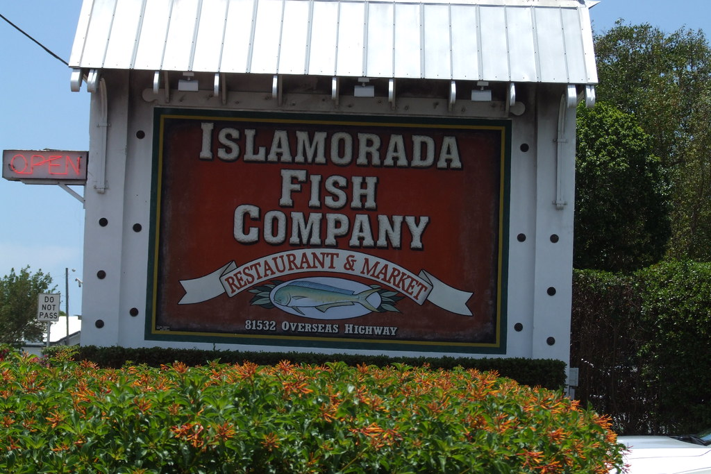 islamorada fish company making a note of where there was