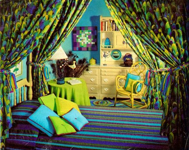 60 s bedroom in blue and green   by sugarpie honeybunch. 60 s bedroom in blue and green   From Seventeen  October 196    Flickr