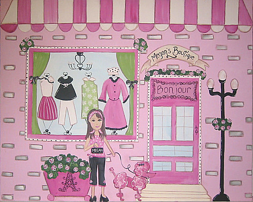 paris french boutique painting poodle in paris wendy flickr. Black Bedroom Furniture Sets. Home Design Ideas