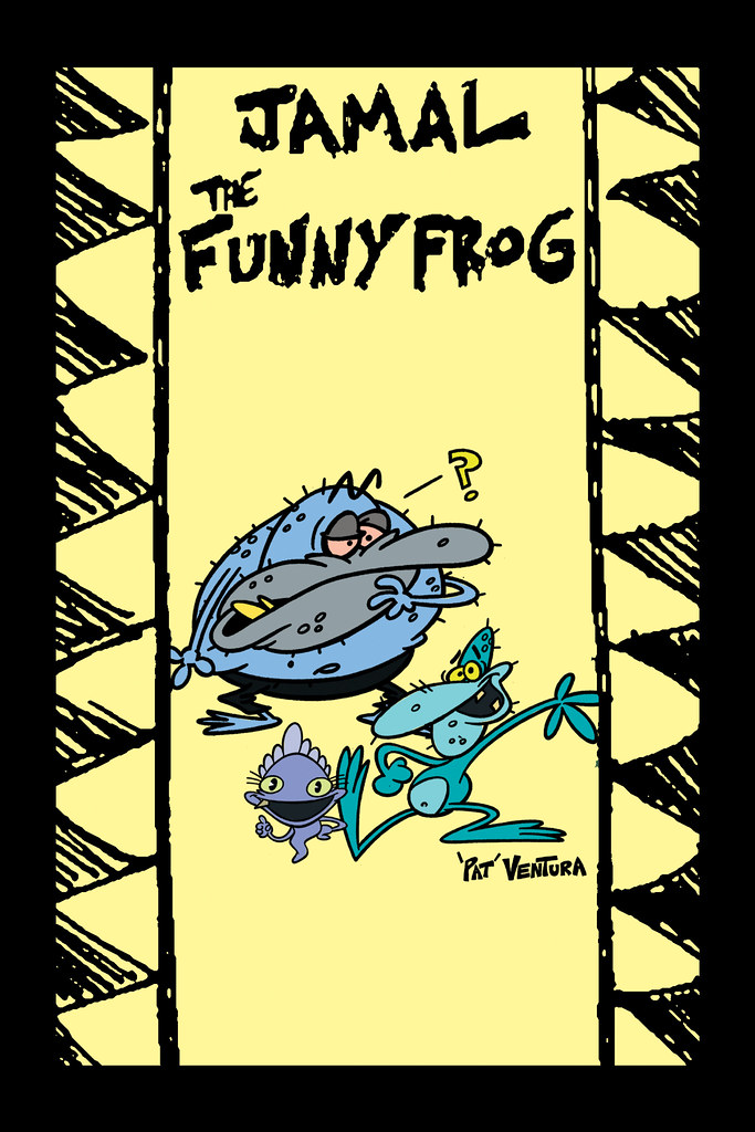 """""""Jamal the Funny Frog"""" created by 'Pat' Ventura 