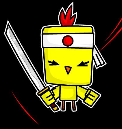 Samurai Chicken Vector From Draw Mareaneus Yahoo Com