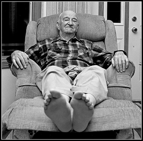 Grandpa in his chair | by Alan  Gage