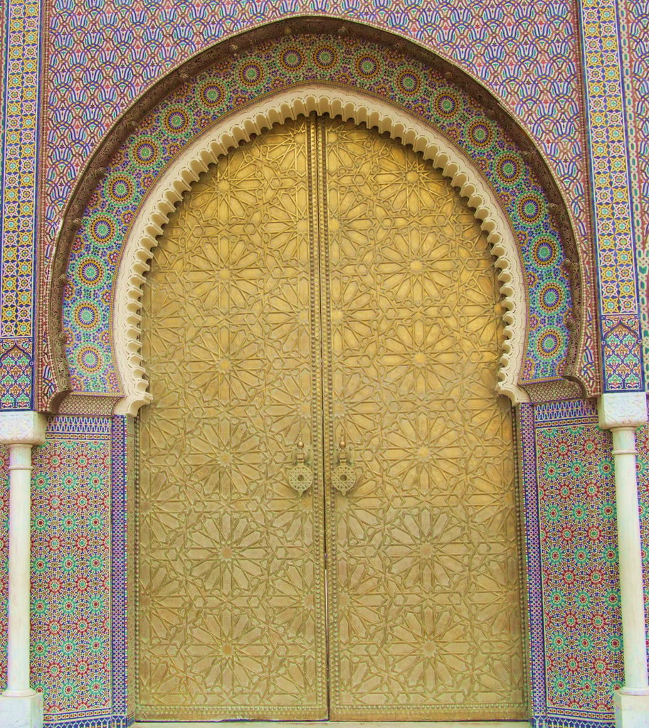 Moroccan Architecture Beautiful door of the Royal Palace i Flickr