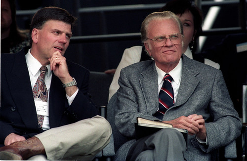 Billy Graham Franklin Graham Cleveland Stadium Ohio June 11,1994 | by escapedtowisconsin