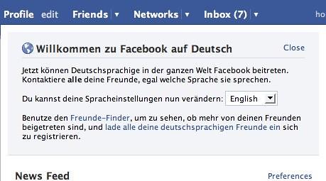 facebook login auf deutsch