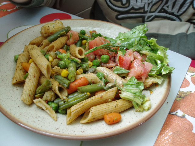 Penne with vegetables | Whole wheat penne with vegetables an ...