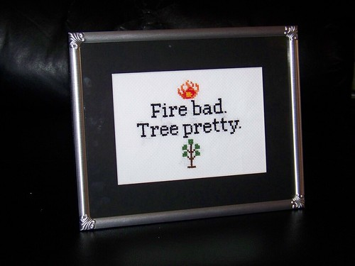 """Fire Bad"" Framed 