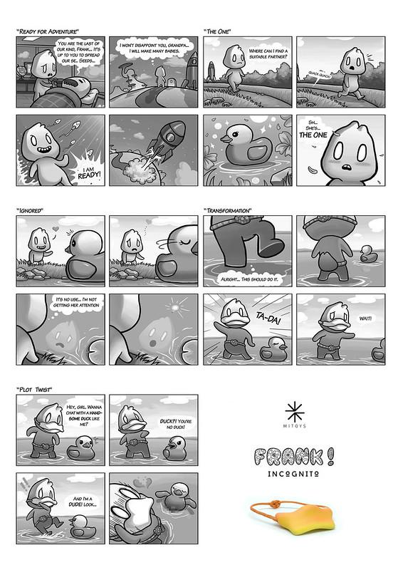 FRANK comic by Jason Wang x MITOYS