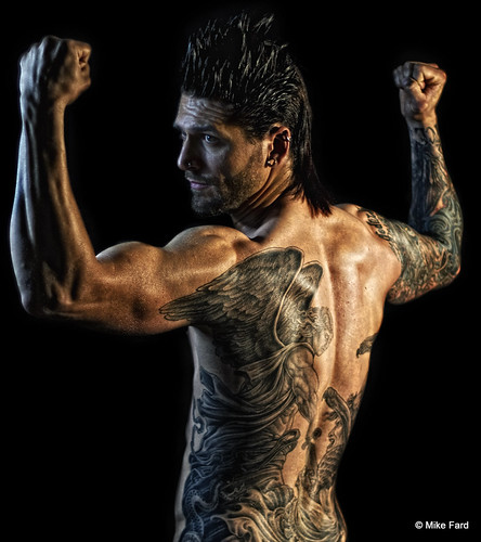 Male model with tattoos photo mike fard mike fard for Tattoo model jobs