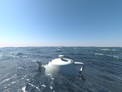 3d max как сделать море