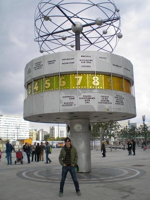 El reloj mundial de Berlín.