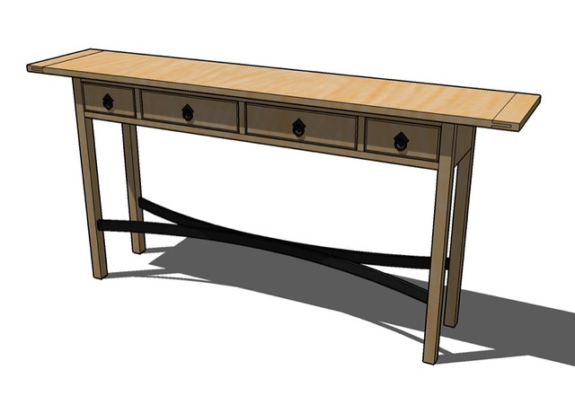 Arts crafts sofa table an arts and craft style sofa for Arts and crafts style table
