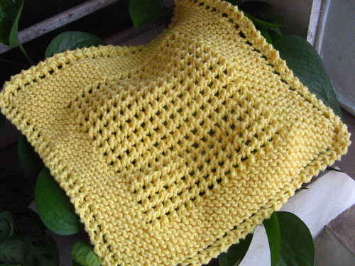 Knitting Pattern Dishcloth Knitted Diagonal : ELOOOmanators diagonal knit dishcloth MrsFife Flickr