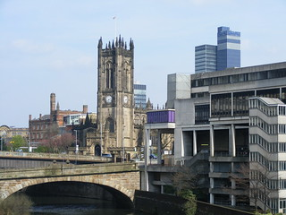 Manchester Cathedral from Blackfriars Bridge | by Pimlico Badger