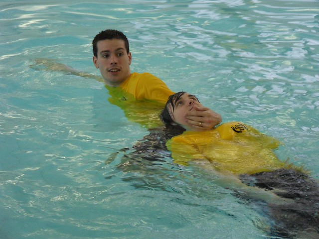 Gayton pool staff training session flickr photo sharing for Garden training pool
