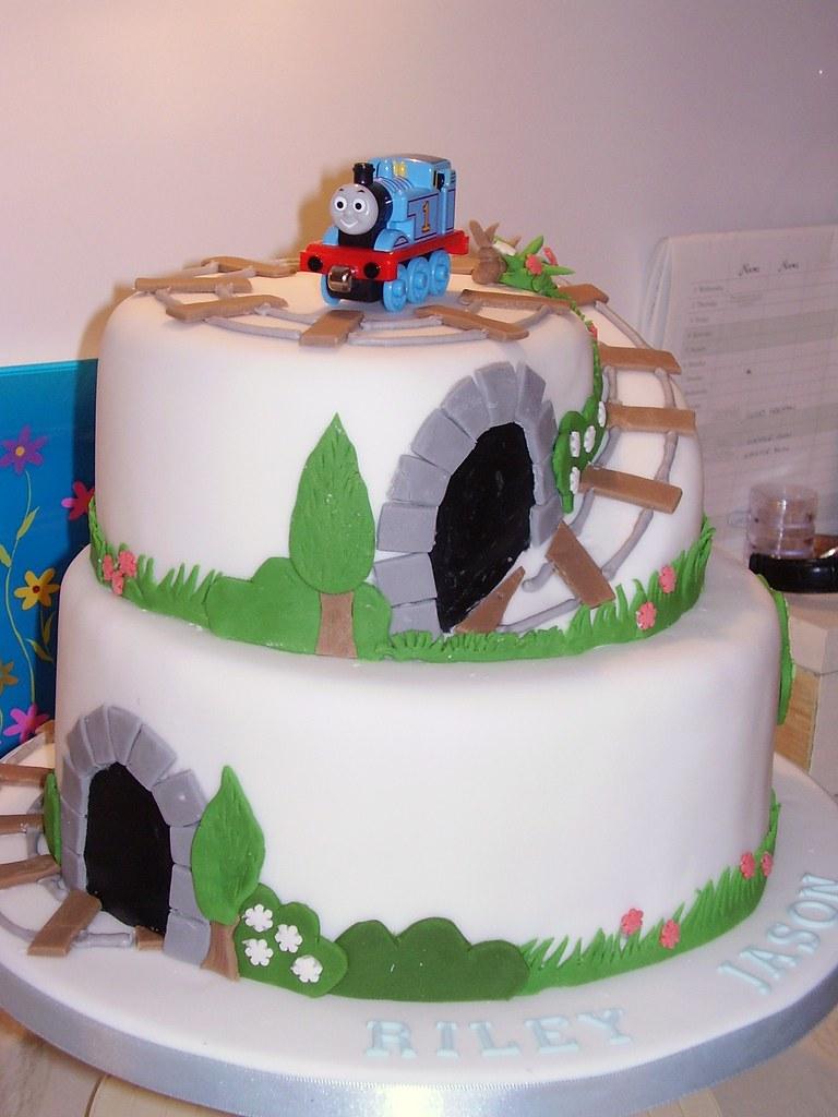 Thomas The Tank Engine Christening Birthday Cake Cake By Flickr