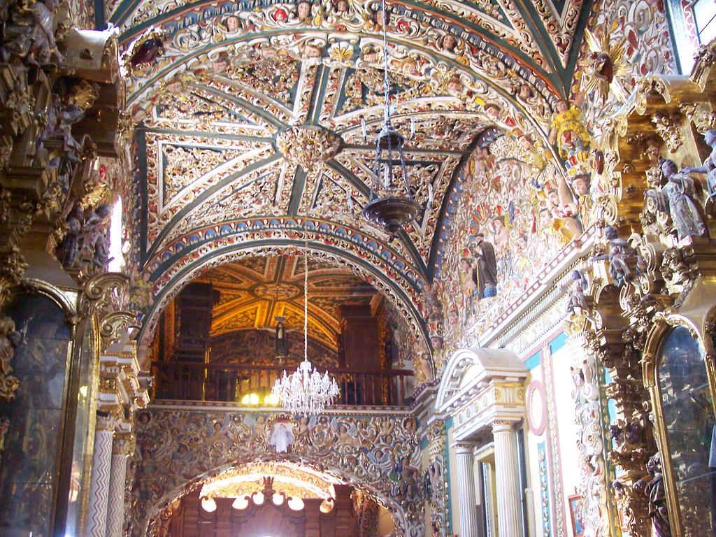 Vista interior de la iglesia de Santa María Tonantzintla