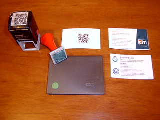 mLearn2007: my QR Code stamps and business cards | by Electric Images