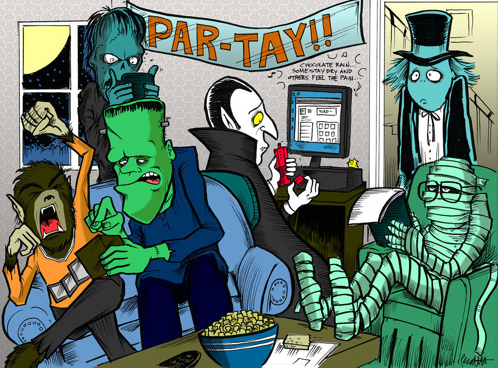 Lame Monster Party | Art done for Paul and Storm for their ...: http://www.flickr.com/photos/jawboneradio/1696308947/