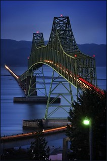astoria megler bridge, dusk | by jody9