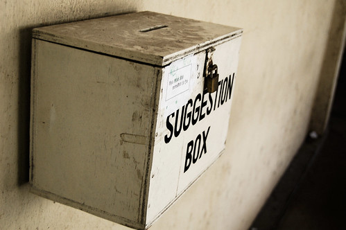 suggestion box | by Hash Milhan