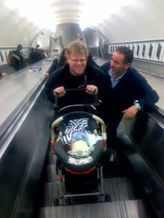 Scoble & son on escalator | by scriptingnews