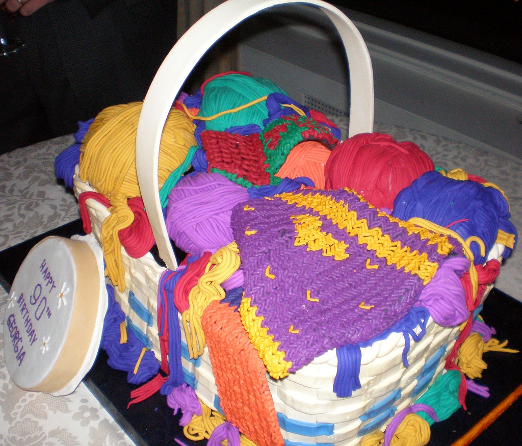 Cake Full Of Yarn 90th Birthday Party Cake Made By The Ace Flickr