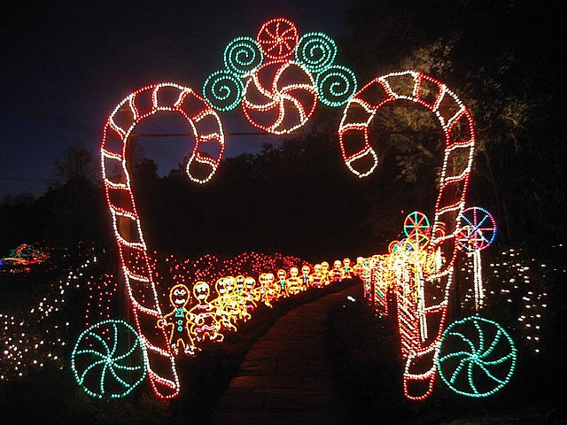 Christmas Lights At Bellingrath Gardens Alabama Usa
